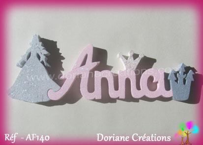 Prenom bois anna decor princesse 1