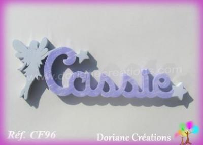 Prénom lettres en bois Cassie