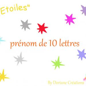 Prenom bois etoiles 10l