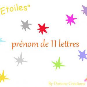 Prenom bois etoiles 11l