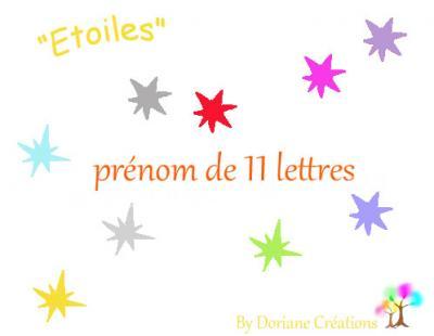 11 Lettres - prénom en bois avec étoiles