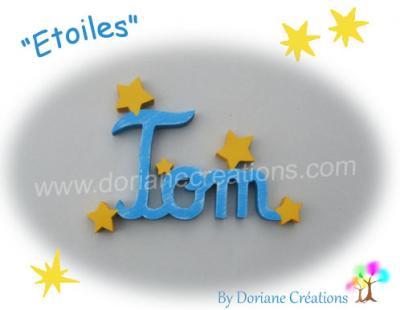 03 Lettres - prénom en bois avec étoiles