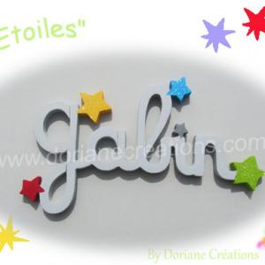 Prenom bois etoiles 5l
