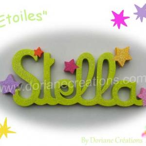 Prenom bois etoiles 6l