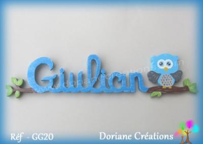 Prénom lettres en bois Giulian