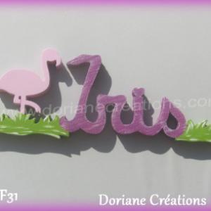 Prenom bois iris flamand rose