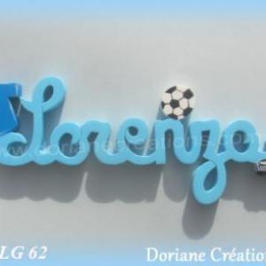 Prenom bois lorenzo theme foot