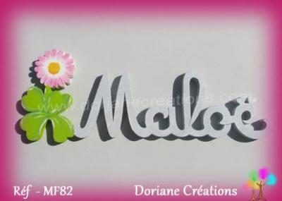 Prénom lettres en bois Maloë