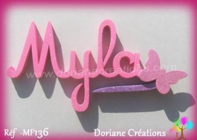 Prénom lettres en bois Myla