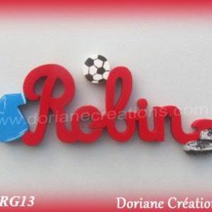 Prenom bois robin theme foot