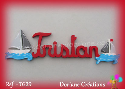 Prenom bois tristan theme mer