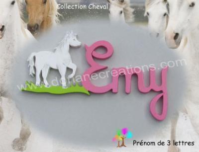 03 lettres - prénom bois cheval