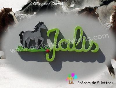 05 lettres - prénom bois cheval