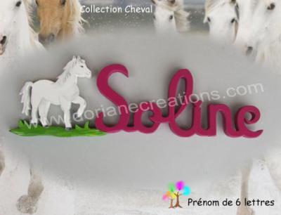 06 lettres - prénom bois cheval
