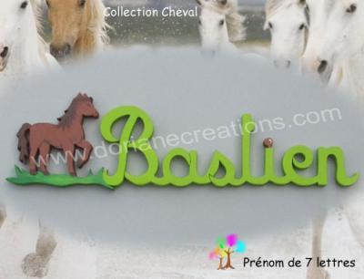 07 lettres - prénom bois cheval