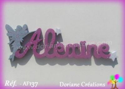 Prénom lettres en bois Alexine