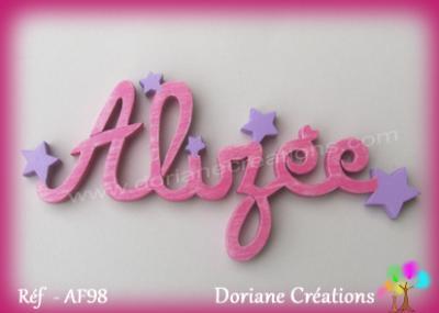 Prénom lettres en bois Alizée