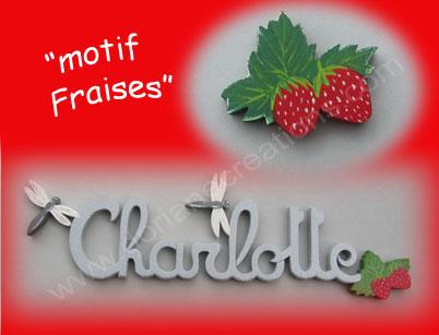 Prenom en bois avec fraise