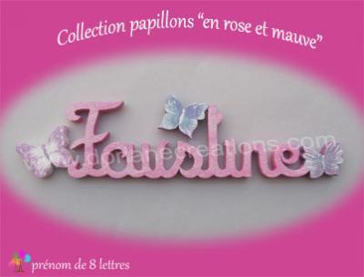 08 Lettres -prénom en bois papillons