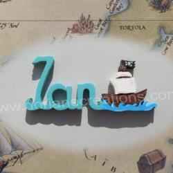 prénom en bois bateau pirate