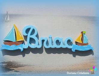 Prenom en bois bateaux 5l