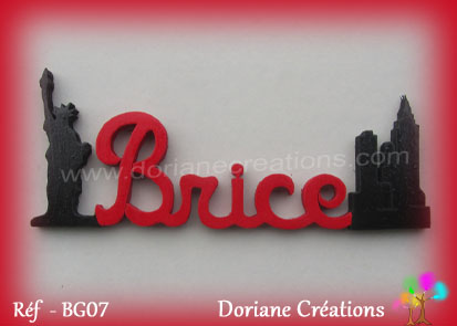 Prenom en bois brice decor new york 1
