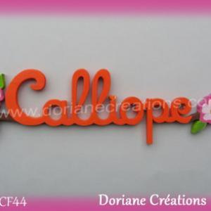 Prenom en bois calliope 1