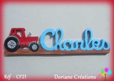Prénom lettres en bois Charles