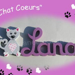Prenom en bois chat 4 lettres