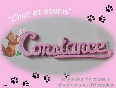 09 lettres - Prénom bois Chat et Souris