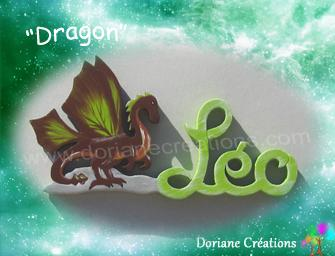 03 lettres - Prénom en bois dragon