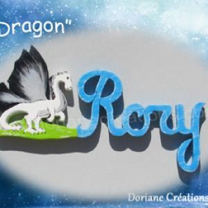 Prenom en bois dragon 4 l