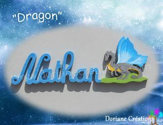 06 lettres - Prénom en bois dragon