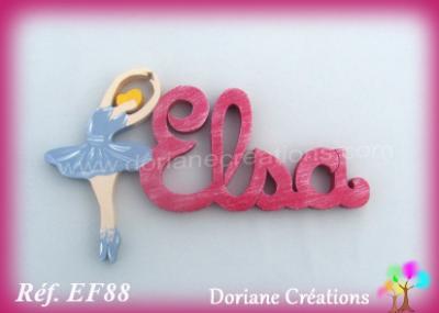Prénom lettres en bois Elsa
