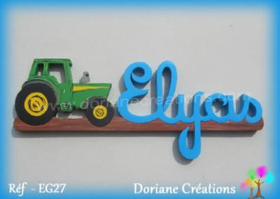 Prénom lettres en bois Elyas