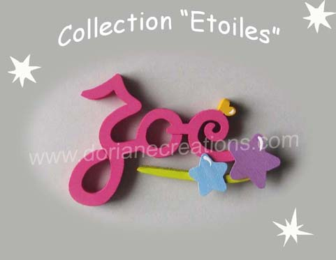 Prenom en bois etoiles 3 lettres