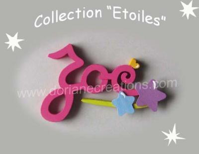 03 Lettres - prénom bois signature étoiles