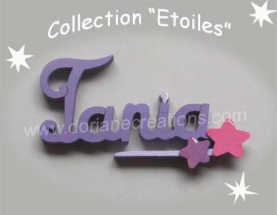 04 Lettres - prénom bois signature étoiles
