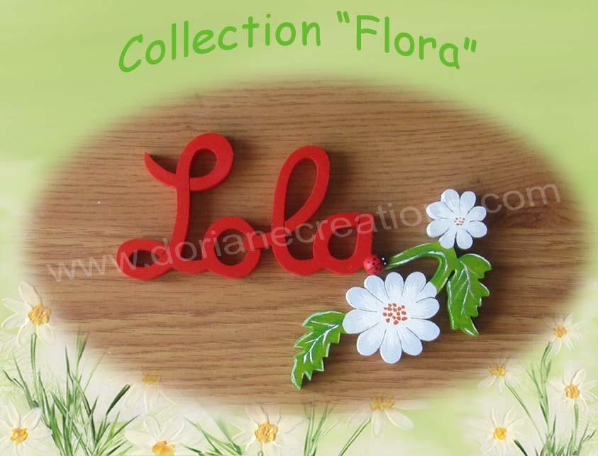Prenom en bois fleur 4lettres