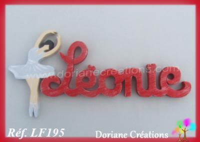 Prénom lettres en bois Léonie