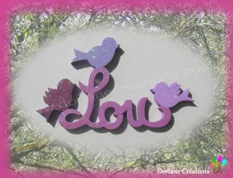 Prenom en bois lettres bois oiseaux 3l 1