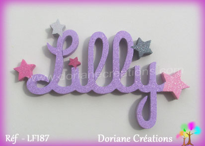 Prenom en bois lilly