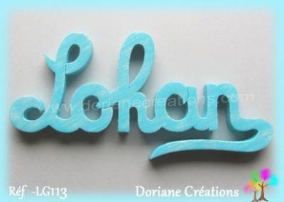 Prénom lettres en bois Lohan