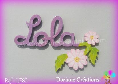 Prénom En Bois Lola