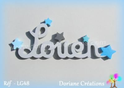 Prénom lettres en bois Louen
