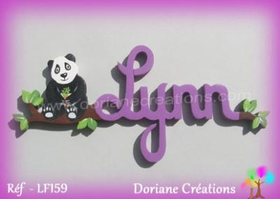Prénom lettres en bois Lynn