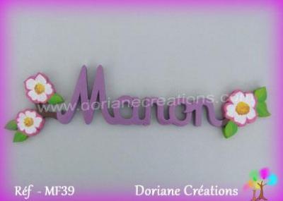 Prénom lettres en bois Manon