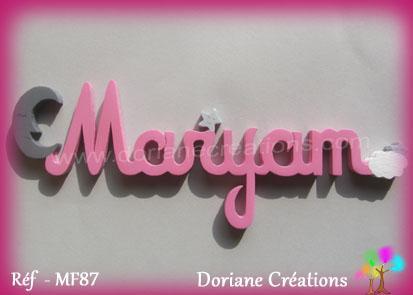 Prenom en bois maryam
