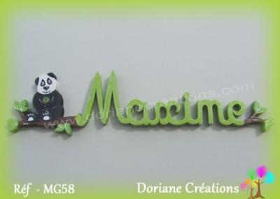Prénom lettres en bois Maxime