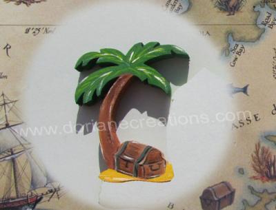 Motif prénom en bois île au trésor